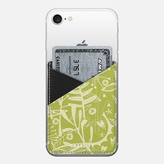 Abundance Green - Saffiano Leather Phone Wallet