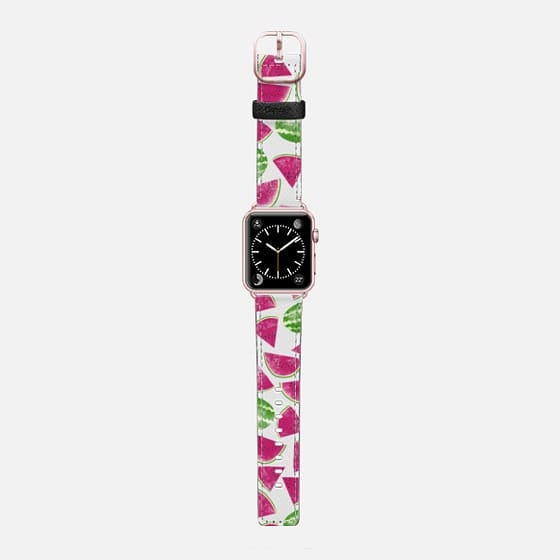 Watermelons - Saffiano Leather Watch Band