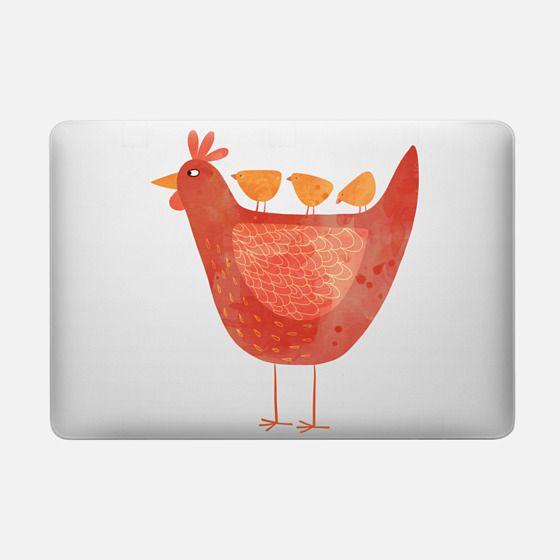 Hen and Chicks - Macbook Snap Case