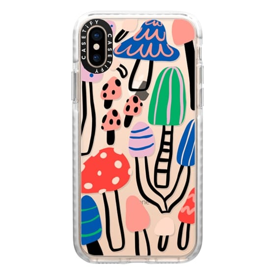 iPhone XS Cases - Cool patterned mushrooms