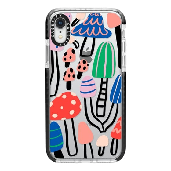 iPhone XR Cases - Cool patterned mushrooms