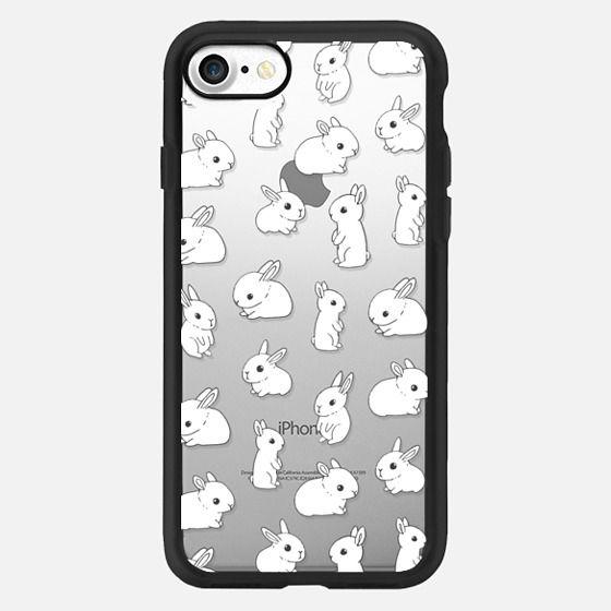 Cute rabbits. Funny bunny. -