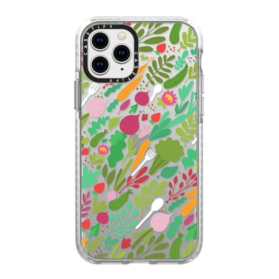 iPhone 11 Pro Cases - I love Vegetables! Broccoli, cucumbers, beet, carrot, radish. Fresh food.