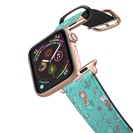 Apple Watch 38mm Bands - Cat mermaids under the sea. Cute fish and kitties.