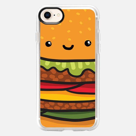 cute burger face - Snap Case