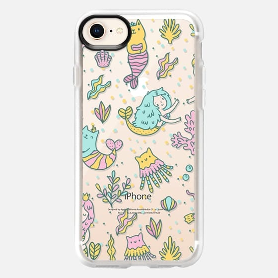 Cute cats and mermaids under the sea - Snap Case