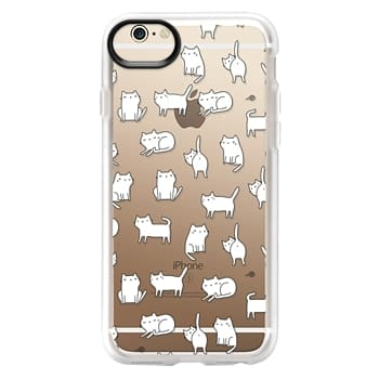 Grip iPhone 6 Case - Cute cats. Doodle hand drawn kittens.