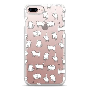 Snap iPhone 7 Plus Case - Cute cats. Doodle hand drawn kittens.