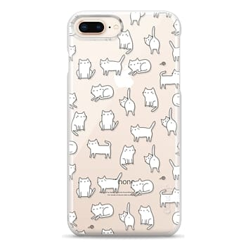 Snap iPhone 8 Plus Case - Cute cats. Doodle hand drawn kittens.