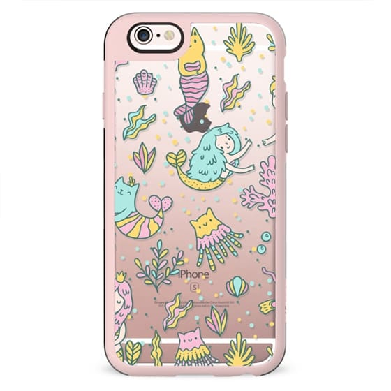 Cute cats and mermaids under the sea