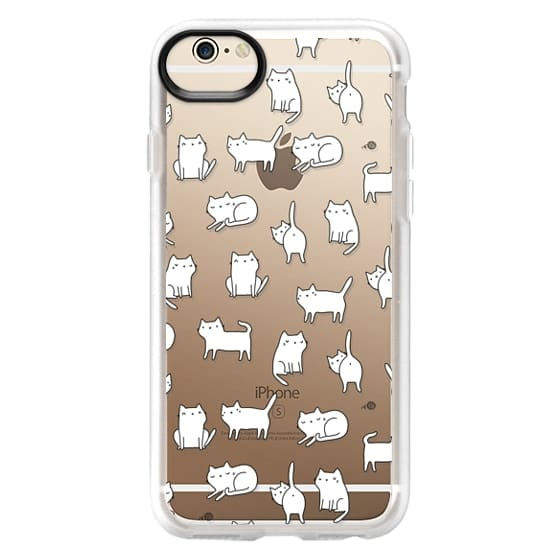 iPhone 6 Cases - Cute cats. Doodle hand drawn kittens.
