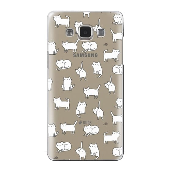Samsung Galaxy A5 Cases - Cute cats. Doodle hand drawn kittens.