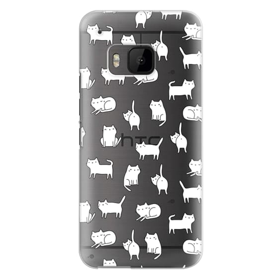 Htc One M9 Cases - Cute cats. Doodle hand drawn kittens.