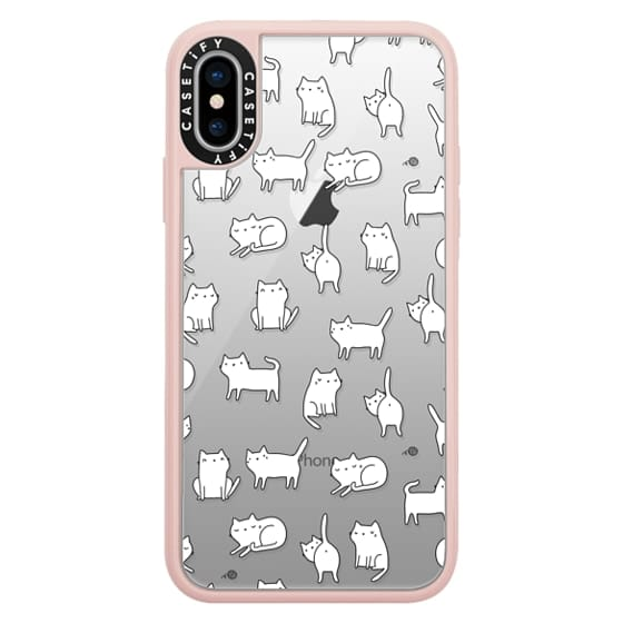iPhone X Cases - Cute cats. Doodle hand drawn kittens.