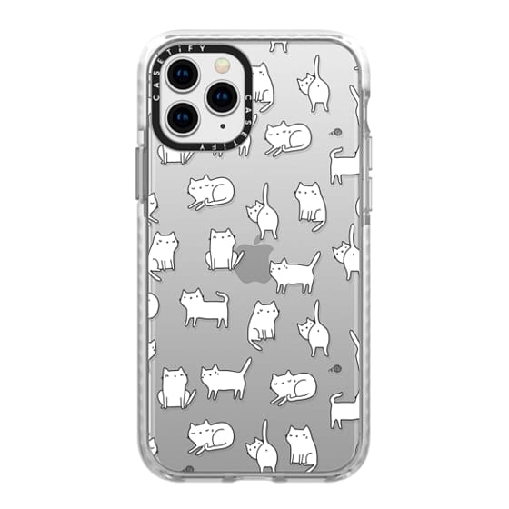 iPhone 11 Pro Cases - Cute cats. Doodle hand drawn kittens.