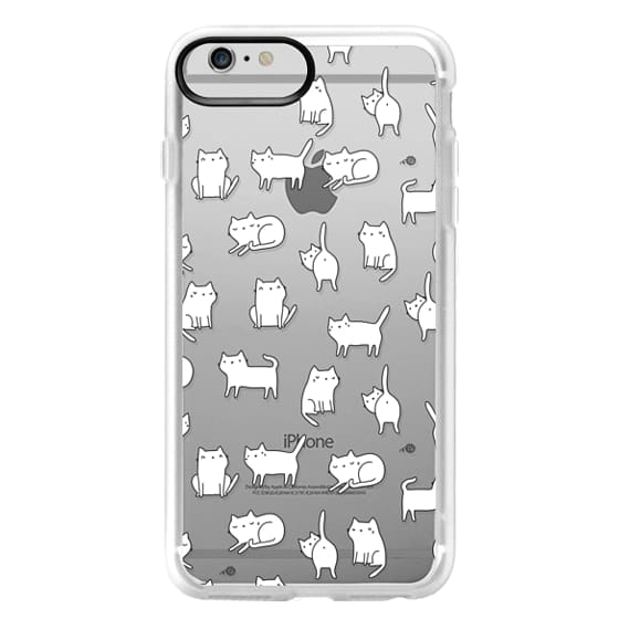iPhone 6 Plus Cases - Cute cats. Doodle hand drawn kittens.
