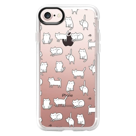 iPhone 7 Cases - Cute cats. Doodle hand drawn kittens.