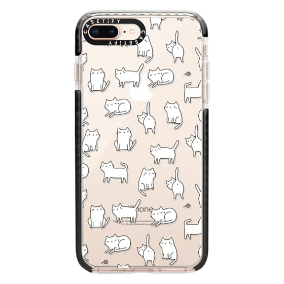 iPhone 8 Plus Cases - Cute cats. Doodle hand drawn kittens.