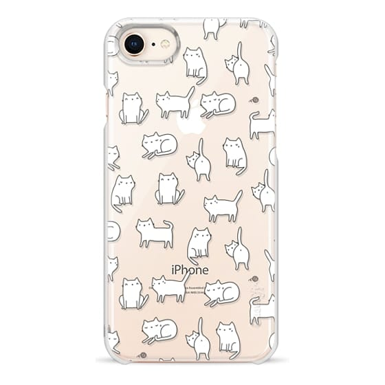 iPhone 8 Cases - Cute cats. Doodle hand drawn kittens.