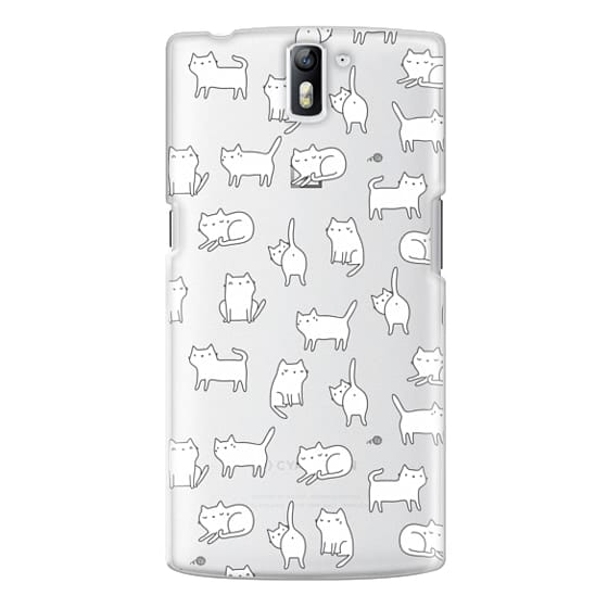 One Plus One Cases - Cute cats. Doodle hand drawn kittens.