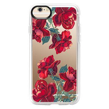 Grip iPhone 6 Case - Red Roses (Transparent)