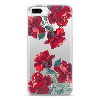 Snap iPhone 7 Plus Case - Red Roses (Transparent)