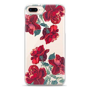 Snap iPhone 8 Plus Case - Red Roses (Transparent)