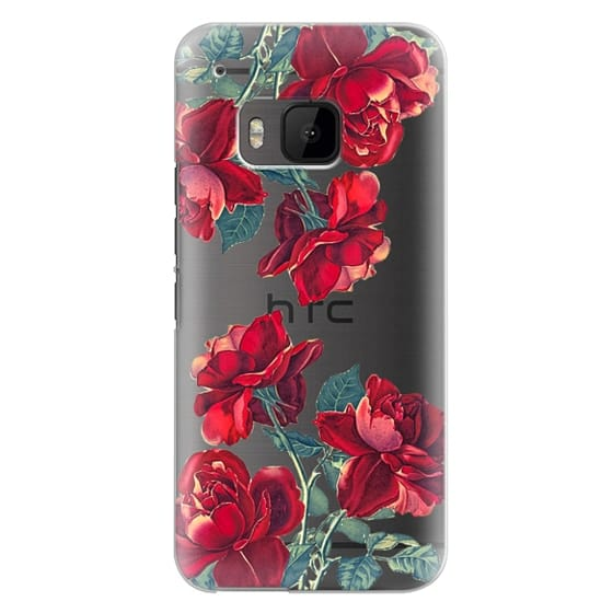 Htc One M9 Cases - Red Roses (Transparent)