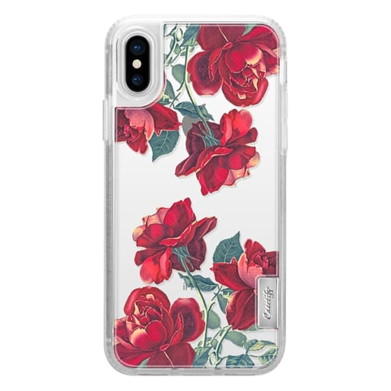 iPhone X Cases - Red Roses (Transparent)