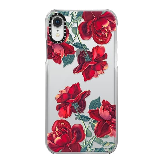iPhone XR Cases - Red Roses (Transparent)
