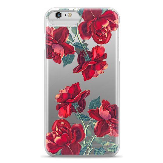 iPhone 4 Cases - Red Roses (Transparent)