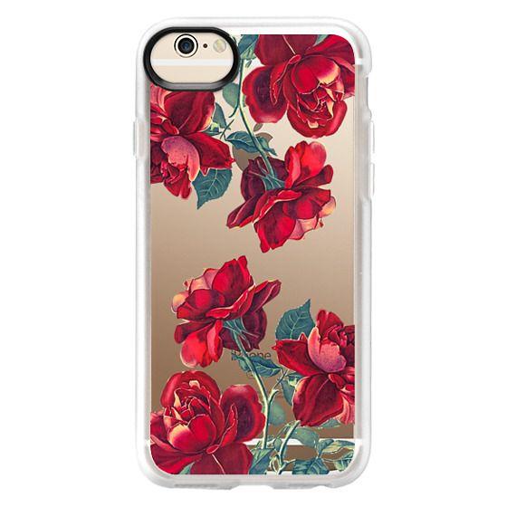 iPhone 6 Cases - Red Roses (Transparent)