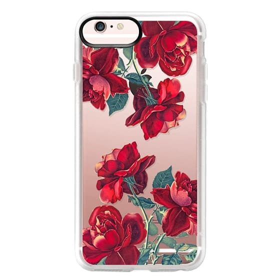 iPhone 6s Plus Cases - Red Roses (Transparent)