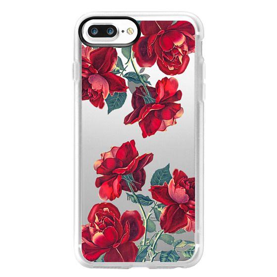 iPhone 7 Plus Cases - Red Roses (Transparent)