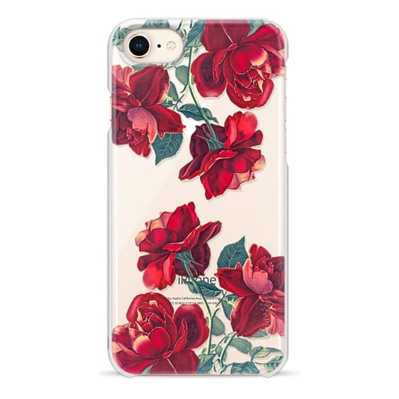 iPhone 8 Cases - Red Roses (Transparent)