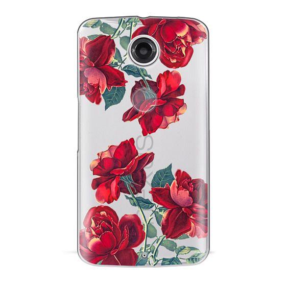 Nexus 6 Cases - Red Roses (Transparent)