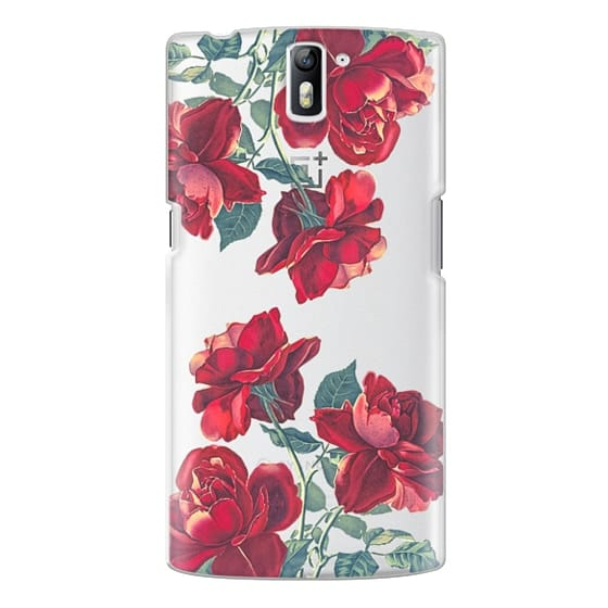 One Plus One Cases - Red Roses (Transparent)