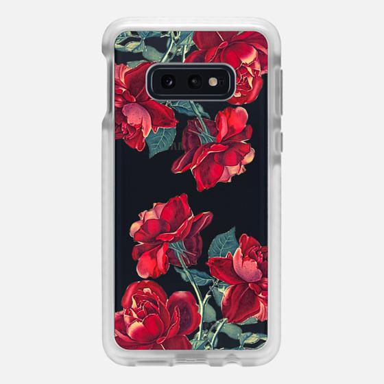 Samsung Galaxy / LG / HTC / Nexus Phone Case - Red Roses (Transparent)