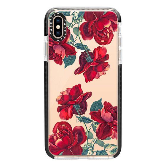 iPhone XS Max Cases - Red Roses (Transparent)