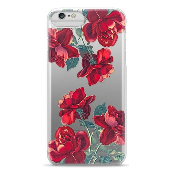 iPhone 6 Plus Cases - Red Roses (Transparent)