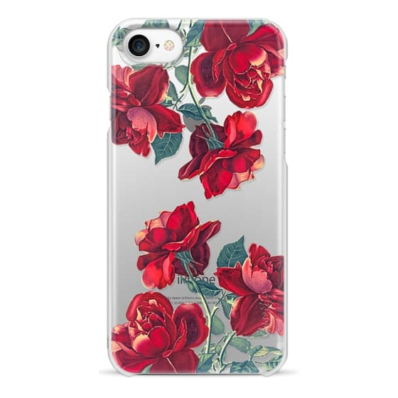 iPhone 7 Cases - Red Roses (Transparent)