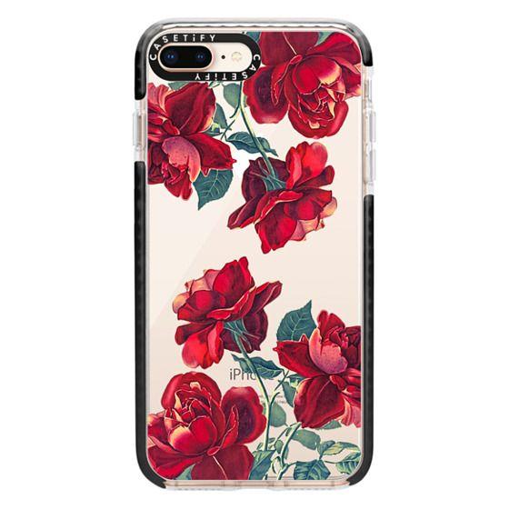 iPhone 8 Plus Cases - Red Roses (Transparent)