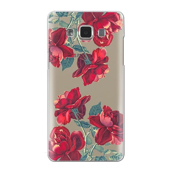 Samsung Galaxy A5 Cases - Red Roses (Transparent)
