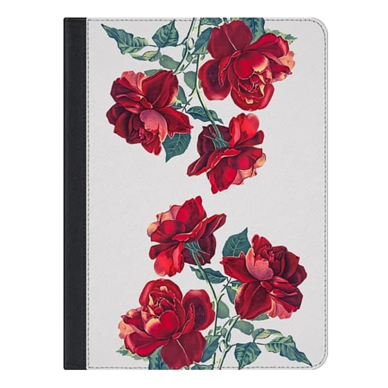 9.7-inch iPad Covers - Red Roses