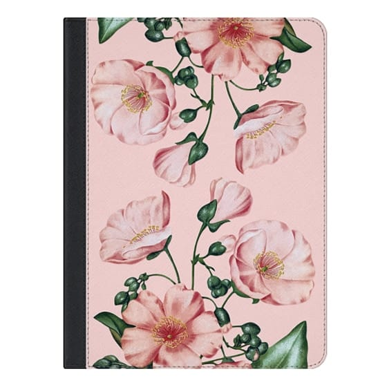 9.7-inch iPad Covers - Pink Calandrinia