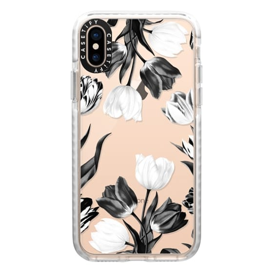 iPhone XS Cases - Bed of Tulips (Clear)
