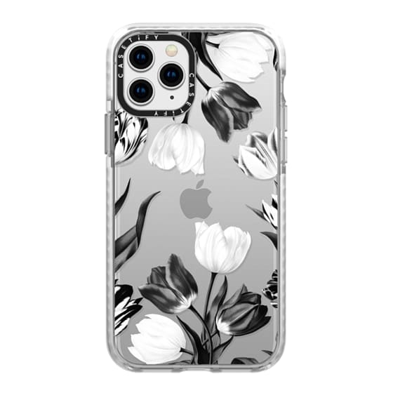 iPhone 11 Pro Cases - Bed of Tulips (Clear)