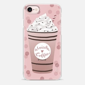 iPhone 7 Case Unicorn Coffee