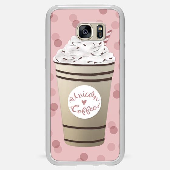 Galaxy S7 Edge Hülle - Unicorn Coffee