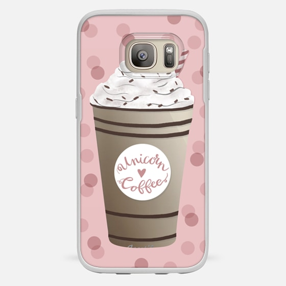 Galaxy S7 Hülle - Unicorn Coffee